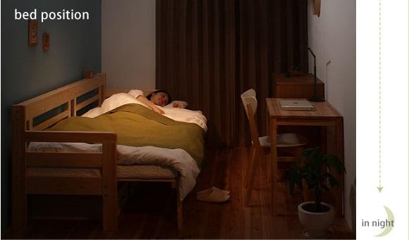 ecliをベッド状態にした写真