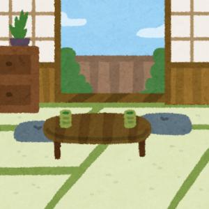 和室にちゃぶ台のイラスト