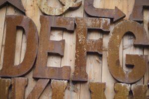レトロ アルファベット