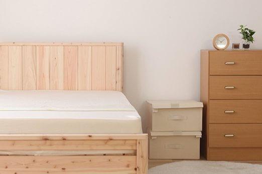 北欧テイストのベッド
