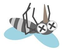 死んだ蚊のイラスト