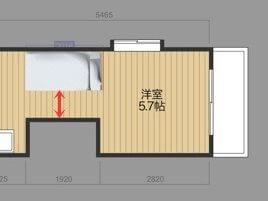 ベッドの配置図面12