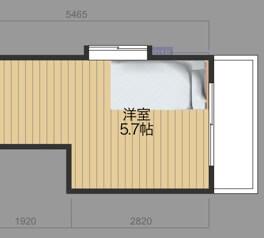 ベッドの配置図面9_1