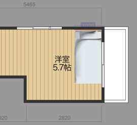ベッド配置図面8