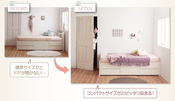 ショート丈ベッドの設置実例