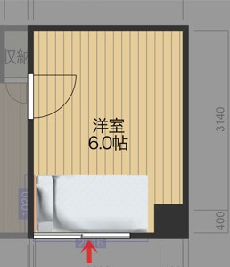 ベッドの配置図_3