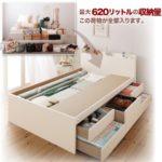 日本製_棚・コンセント付き大容量すのこチェストベッド【Salvato】サルバト