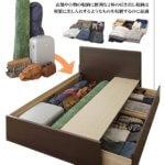【組立設置サービス】 頑丈ボックス収納 ベッド  日本製