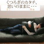 うたた寝できるカバーリングフロアソファベッド