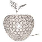 リンゴ型ガラステーブルスタンドライト/卓上照明器具 【Ringo stand】  クリア CTL-2637-CL