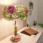 ファブリックテーブルスタンドライト/卓上照明器具 グリーン ボタニカル調 『Floweragre』 CTL-3106