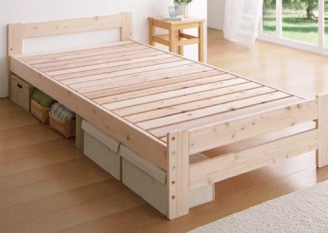 ベッド下の収納が可能なベッド