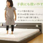 【NEW!】日本製 フロアベッド 照明付き 『NOIE』ノイエ