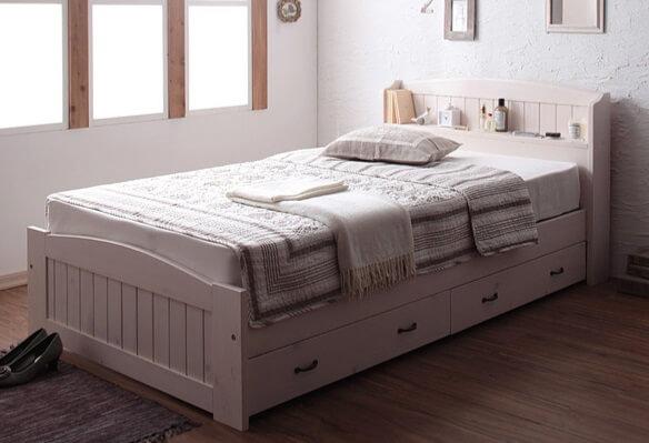 ショート丈収納ベッド レーヌ