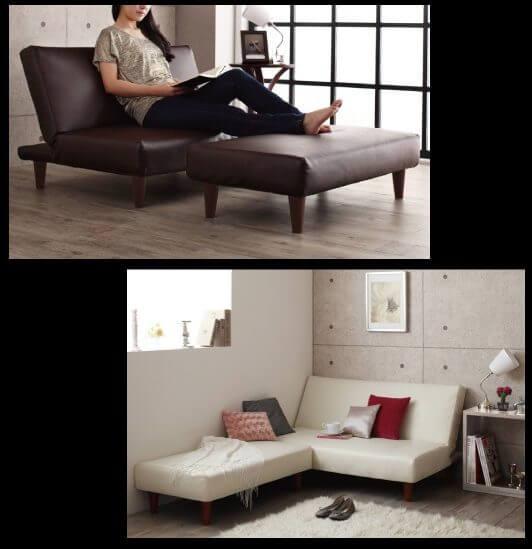 PVCレザーのソファベッド