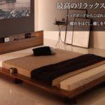 和室にも合う!人気のロースタイルデザインベッド 【Burlington】 バーリントン