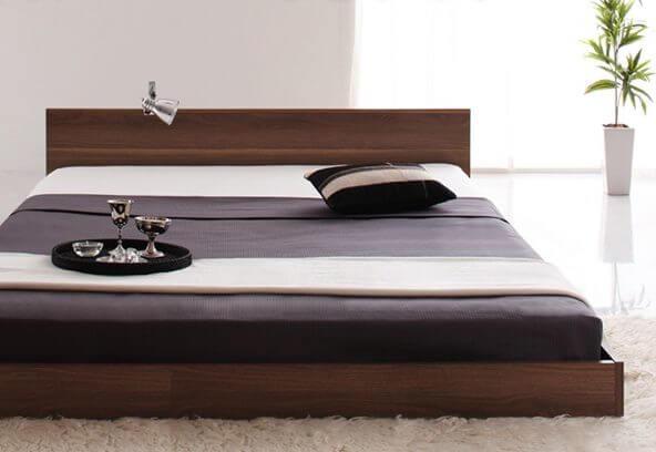 格安シンプルヘッドボードベッド