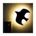 【2個セット】 WOODY WALL LIGHT/LED照明 【2 BIRD】 音感センサー内蔵 自動消灯