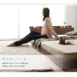 低床ベッド ロータイプ すのこ 木製 棚付き 宮付き コンセント付き